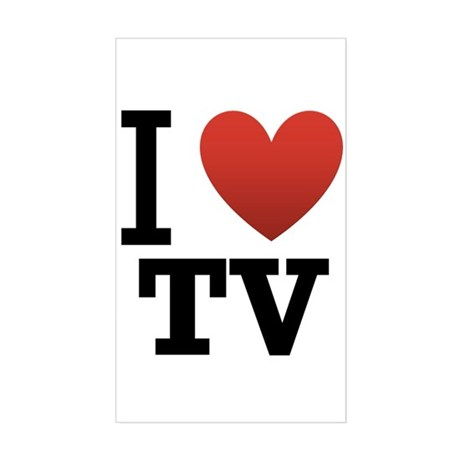 I Love TV Sticker (Rectangle) by teesbytom