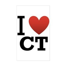 I Love CT Decal