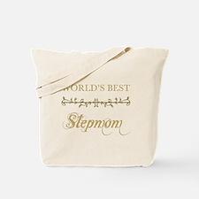 Elegant World's Best Step Mom Tote Bag