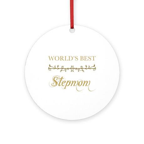 Elegant World's Best Step Mom Ornament (Round)