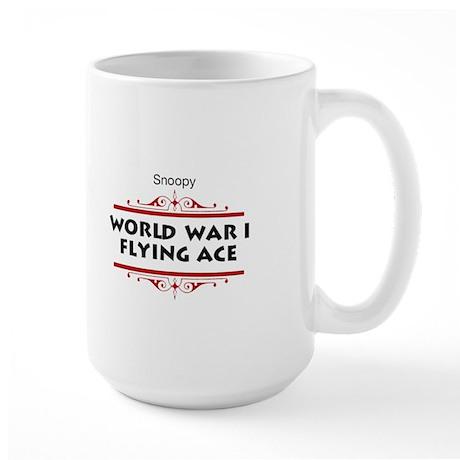 Flying Ace Dodging Bullets Large Mug