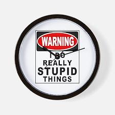 Stupid Things Wall Clock