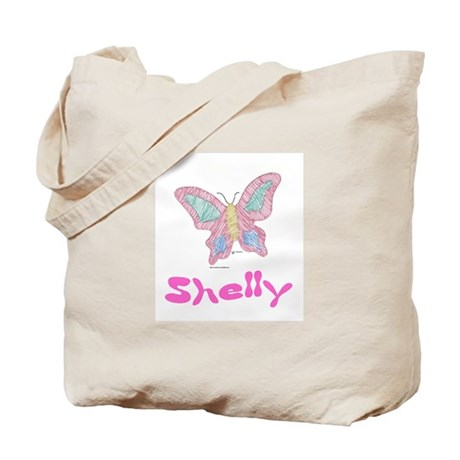 Pink Butterfly Shelly Tote Bag