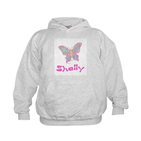 Pink Butterfly Shelly Kids Hoodie