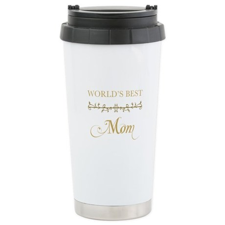 Elegant World's Best Mom Stainless Steel Travel Mu