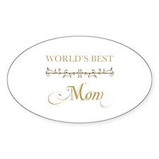 Elegant World's Best Mom Decal