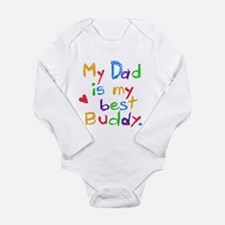 Dad Best Buddy Long Sleeve Infant Bodysuit