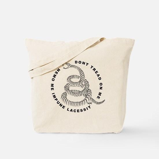 Skeletal Gadsden Tote Bag