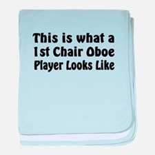 1st Chair Oboe Player baby blanket