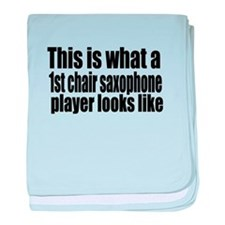 1st Chair Player baby blanket