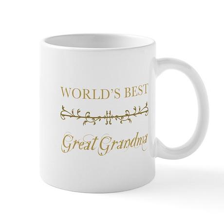 Elegant World's Best Great Grandma Mug