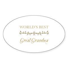 Elegant World's Best Great Grandma Decal