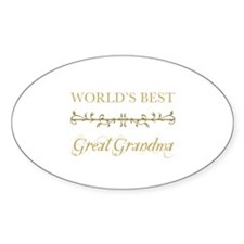 Elegant World's Best Great Grandma Decal