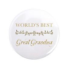 "Elegant World's Best Great Grandma 3.5"" Button"