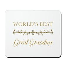 Elegant World's Best Great Grandma Mousepad