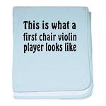 Violin baby blanket