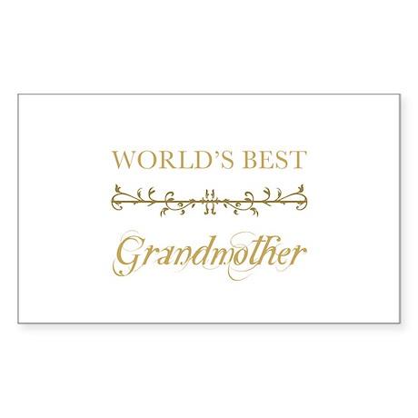 Elegant World's Best Grandmother Sticker (Rectangl