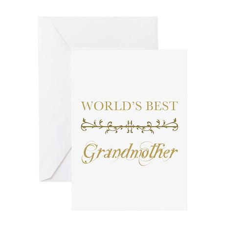 Elegant World's Best Grandmother Greeting Card