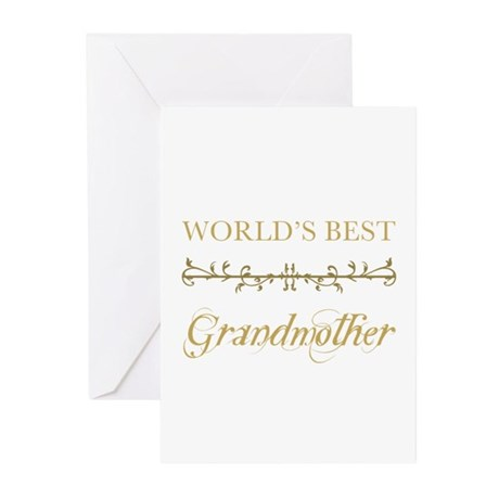 Elegant World's Best Grandmother Greeting Cards (P