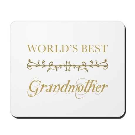 Elegant World's Best Grandmother Mousepad