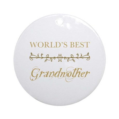 Elegant World's Best Grandmother Ornament (Round)