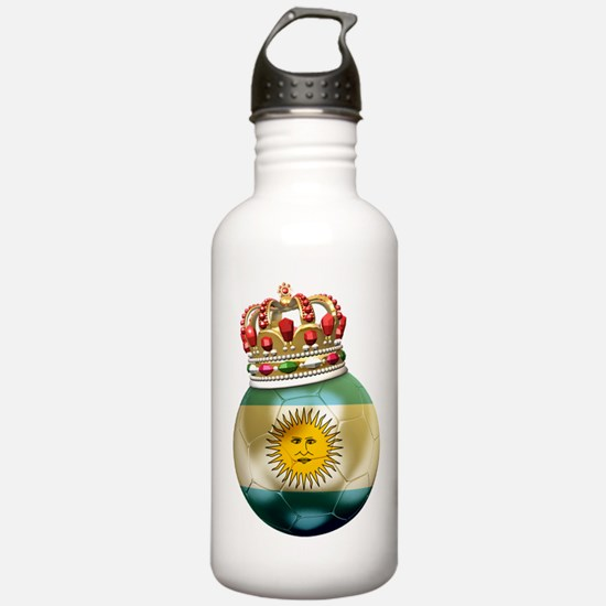 Argentina King Of Football Water Bottle