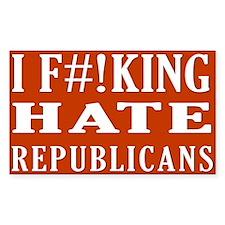 I Hate Republicans sticker