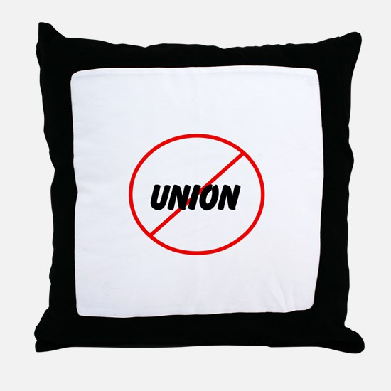 no union Throw Pillow