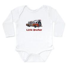 Little Brother Fire Truck Onesie Romper Suit
