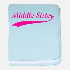 Middle Sister baby blanket