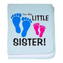 Little Sister Baby Footprints baby blanket