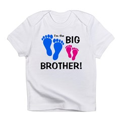 Big Brother Baby Footprints Infant T-Shirt