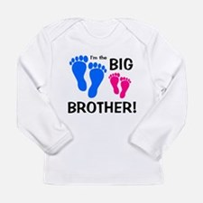 Big Brother Baby Footprints Long Sleeve Infant T-S