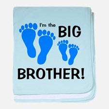 Big Brother Baby Footprints baby blanket