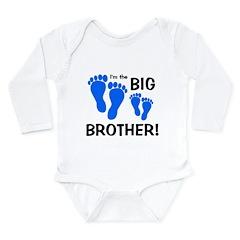 Big Brother Baby Footprints Long Sleeve Infant Bod