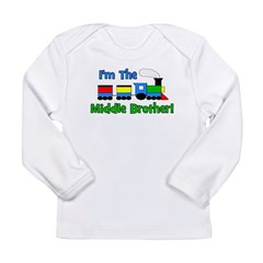 Middle Brother TRAIN Long Sleeve Infant T-Shirt