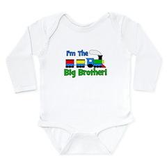 Big Brother TRAIN Long Sleeve Infant Bodysuit