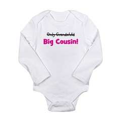 Big Cousin (Only Grandchild) Long Sleeve Infant Bo