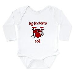 Big Brothers Roll! DRUMS Long Sleeve Infant Bodysu