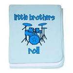Little Brothers Roll DRUMS baby blanket