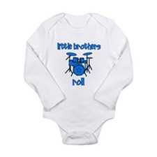 Little Brothers Roll DRUMS Long Sleeve Infant Body