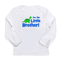 I'm The Little Brother! Dinos Long Sleeve Infant T