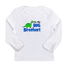 I'm The Big Brother! Dinosaur Long Sleeve Infant T