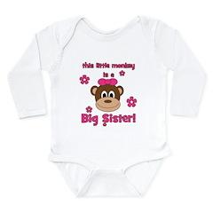 Little Monkey Is Big Sister! Long Sleeve Infant Bo