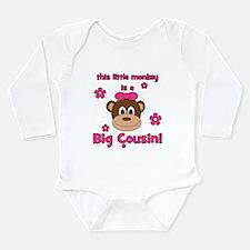 Little Monkey Is Big Cousin! Long Sleeve Infant Bo