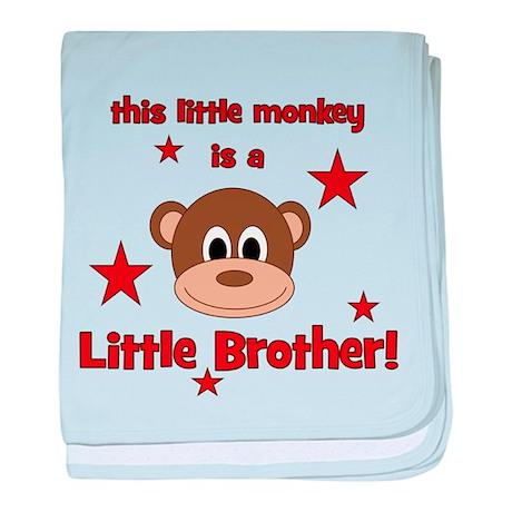 Little Monkey Is Little Broth baby blanket