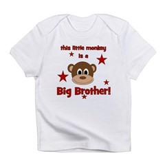 Little Monkey Is Big Brother Infant T-Shirt