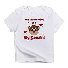 Little Monkey Is Big Cousin Infant T-Shirt