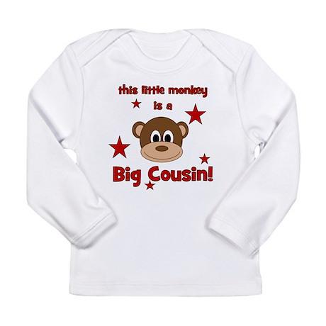 Little Monkey Is Big Cousin Long Sleeve Infant T-S