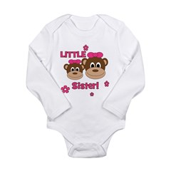 I'm The Little Sister! Monkey Long Sleeve Infant B